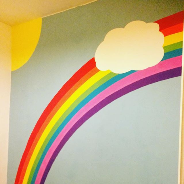 #rainbow #bedroom to make the move to #cardiff a bit easier on the little one